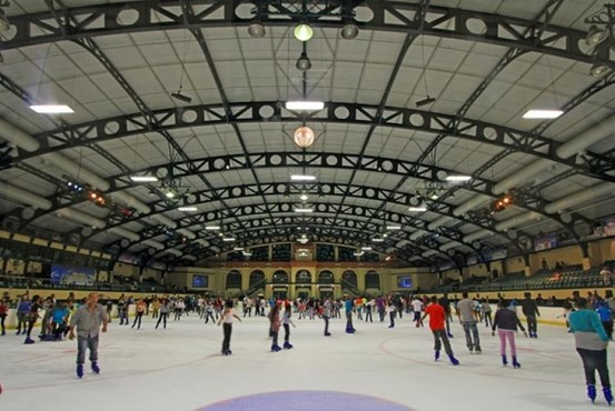 Go ice-skating at Grand West Casino's indoor ice rink